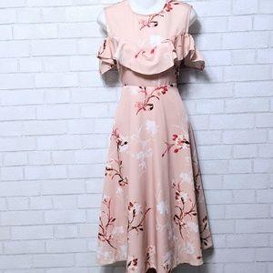 ASOS Hope & Ivy Maternity Floral Midi Dress 10